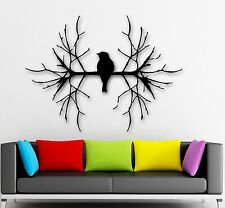 Wall Stickers Vinyl Decal Bird  Branch For Living Room Nature Animal (ig763)