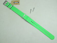 Fossil 18mm Zulu dive military weaved nylon field watch band green S181122