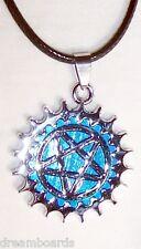Pentagramm Anhänger * + Kette * Blau * Gothic * Amulett