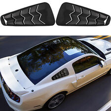 Quarter Side Window Scoop Louver Vent Sun Shade For 2005-2014 Ford Mustang GT V6