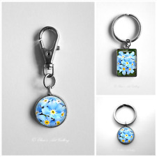 Forget Me Not Flower Keyrings Photo Jewellery