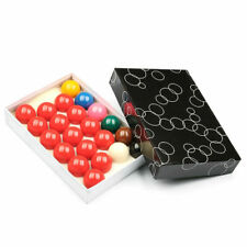 """FULL SIZE 2-1/16"""" (52.5mm DIAMETER) HOME or CLUB SNOOKER TABLES 22 BALLS SET"""