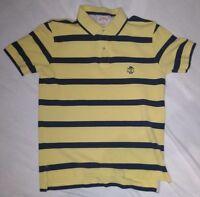 Vintage Brooks Brothers Polo Shirt Yelliw Blue Stripe Flying Lamb Medium