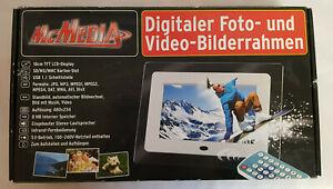 Digitaler Fotobilderrahmen, Videobilderrahmen Mc Media Neu u. OVP