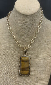 Barse Guinevere Necklace-Tigers Eye & Bronze- New With Tags