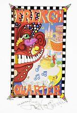 FRENCH QUARTER Jamie Hayes NEW ORLEANS poster Art PRINT PIANO MOUTH HOUSE SIGNED