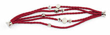 Five Strands PU Leather Plaited Bracelet With Silver Metal Charms Magnetic Clasp