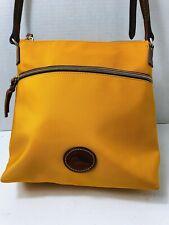 """Dooney & Bourke Small Yellow Tote Handbag 10"""""""