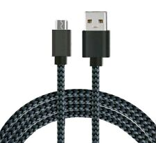 Heavyduty Braided Micro USB Charger Charging Lead Data Sync Phone Cable 1M