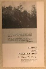 Vintage Meyer W Weisgal Address Weizmann Institute of Science Rehovot Israel '58