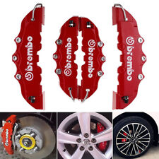 4X3D Red Brembo Style Race Brake Caliper Cover Disc Red Car Front & Rear