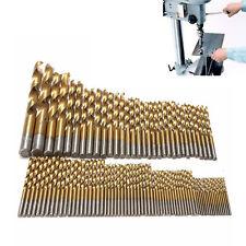 99pcs/set Titanium Coated HSS Twist Drill Bits Metric System 1.5mm-10mm