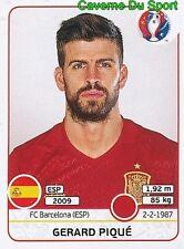356 GERARD PIQUE ESPANA SPAIN FC.BARCELONA STICKER EURO 2016 PANINI
