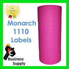 Monarch 1110 pink labels for one line label price gun -1 sleeve ink included