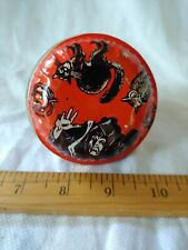VINTAGE TIN HALLOWEEN NOISE MAKER WITCH BLACK CAT OWL PUMPKIN