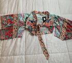 Womens Fashionnova chinese theamed Paradise Pier Kimono top size small NWT!!