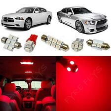 11x Red LED lights interior package kit for 2011-2015 Dodge Charger DC1R