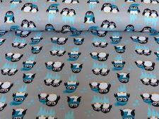 Nano Softshell Sheldon von Swafing Pinguine Türkis (Stoff Meterware ab 0,25m)