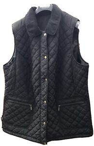Evans Ladies Black Gillet/ Bodywarmer Size 26-28