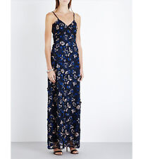 Self-Portrait Eva Lace Floral Slip maxi Dress UK 8 SELF PORTRAIT Embroidered