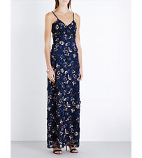 Self-Portrait Eva Lace Floral Slip maxi Dress UK 8 SELF PORTRAIT REDUCED SALE