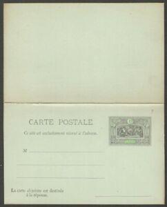 Obock lettercard unused 10c