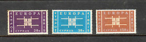 Cyprus Stamps 1963 Europa Issue Complete set,SCV $45.00, Mint no gum