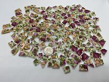 Broken China Mosaic Tiles ~ Royal Albert Old Country Roses ~ 173 Pieces