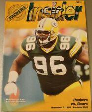 1999 Chicago Bears Green Bay Packers Program Lambeau Field Favre