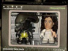 "Alien Titans Pre-Suit Ripley & Acid-Splatter Xenomorph 3"" Vinyl Mini Figure 2-Pk"