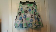 NO NO size 10 cotton floral skirt in lime