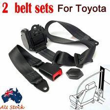 2x For Toyota Universal 3 Points AU Car Safe Seat Belt Seatbelt Driver Passenger