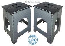 2 x Large Step Stools Multi Purpose Outdoor Home Kitchen Folding Seat Rattan DIY