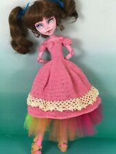 17 inch Monster High doll clothes beautiful hand knit dress BARBIE