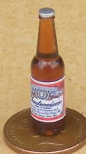 1:12 Scale Bottle With A Budweiser Beer Label Tumdee Dolls House Drink Accessory