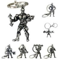 Strong Man Dumbbell Key Chain Fitness Bodybuilding Key Chains Car Wallet_Ch G6T6