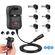 Multi Voltage Power Adapter 3v 4.5v 5v 6v 9v 12v Power Supply w USB Port AU