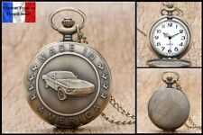 Montre gousset NEUVE ! (Pocket Watch) Voiture Ancienne Car Ford Mustang