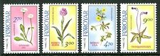 Faroe Island Stamp Scott #169-172 Flowers 1988 MNH