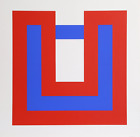 Bob Bonies, Composition Red and Blue I, Screenprint, signed and numbered in penc