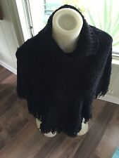 """WOMEN'S  SHAWL BLACK About 29"""" Tall X 27"""" Shoulders S"""