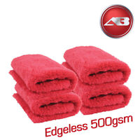 Edgeless Microfibre WOW 500gsm Soft Aqua Deluxe 4 Drying Towels Car Detailing
