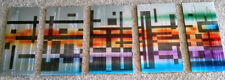 5PC Colorful Metal Wall Sculpture Art - modern/contemporary