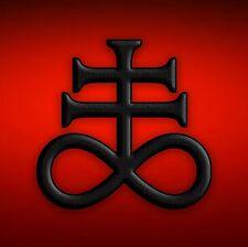 Satanic Cross Red Devil Heavy Metal Sticker, Magnet