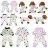 Pet Dog Pajamas Clothes Jumpsuit Puppy Coat Apparel Soft Cotton Cartoon Printed