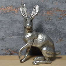 More details for antique silver hare statue harriet glenn sculpture country house ornament