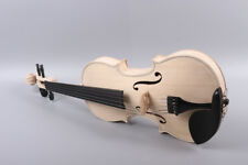 5 string 4/4 violin unfinished Ebony parts Maple spruce wood Free case Bow
