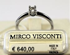 Anello oro bianco 18kt 750/°°° MIRCO VISCONTI con Diamante Solitario DU47/20