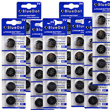 Qty 40 DL2032 CR2032 ECR2032 5004LC Button Cell Battery USA US FREE SHIP 3 Volt