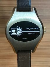 Vintage Majestime Ladies Swiss Made Jump Hour Mechanical Watch. Running,Jumping